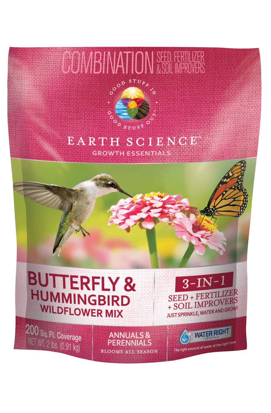 Earth Science Wildflower Butterfly and Hummingbird Mix