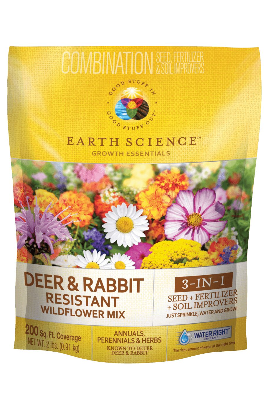 Earth Science Deer & Rabbit Resistant Flower Mix