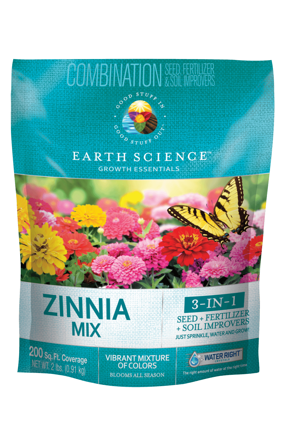 Earth Science Wildflower Zinnia Mix